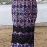 ankara long griper skirt