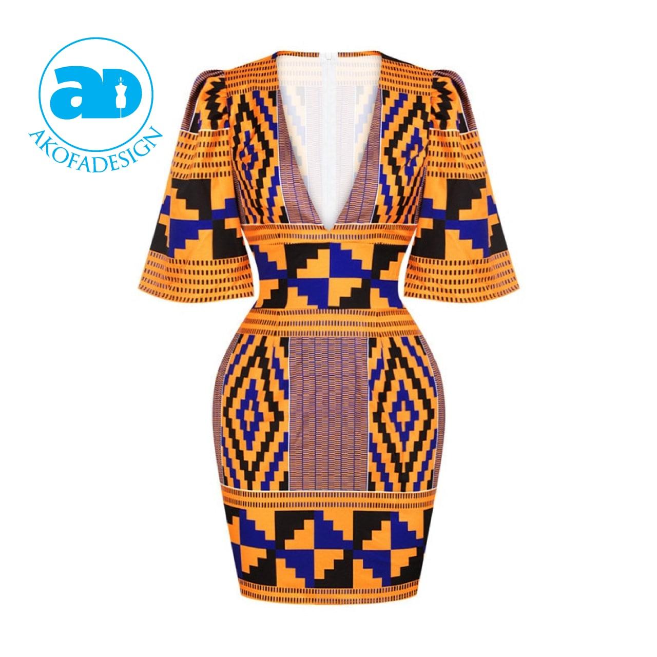 women dress african print