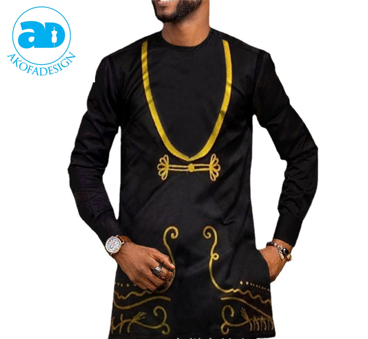 Suite for men two pieces african print
